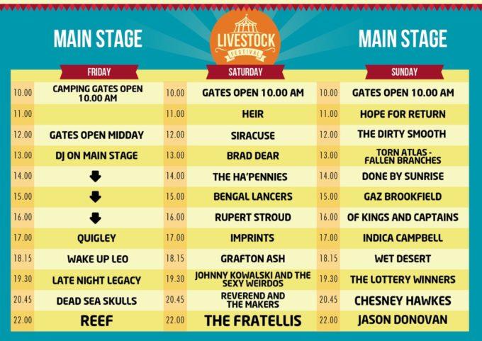 Main Stage Schedule