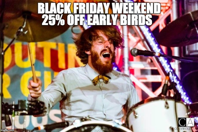 Black Friday Weekend Ticket Sale 25% Off